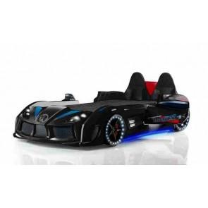 Autoletto con sedili in pelle nero– GTR