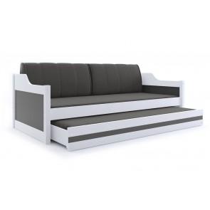 Divano (bianco) con letto per gli ospiti con colore grigio