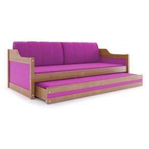 Divano (ontano) con letto per gli ospiti con colore rosa - DAVE