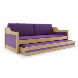 Divano con letto per gli ospiti - (pino+porpora) - DAVE