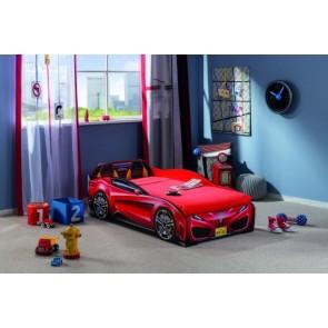 Autoletto mini rosso ,con il materasso di qualita in regalo (70x130)
