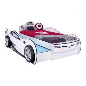 Autoletto Coupe con letto per gli ospiti (bianco) (90x190 cm – 90x180 cm)