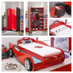 Cameretta Coupe autoletto - rosso