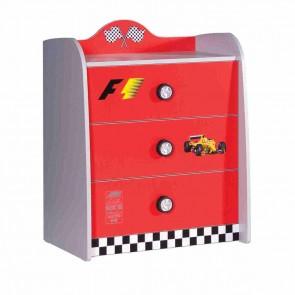Comó per la cameretta bambini rosso – Turbo S