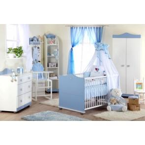 Cameretta per neonati Principe - Bianco / Blu