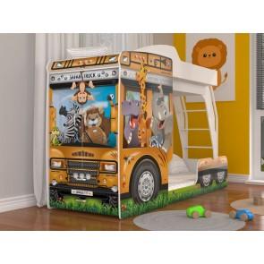 Letto a castello a forma di camion Safari