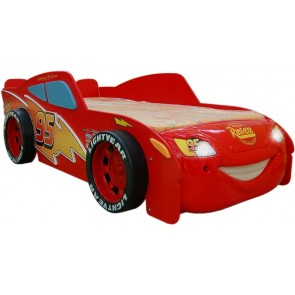 Letto a tema Cars 2 Saetta McQueen a forma di auto - MDF