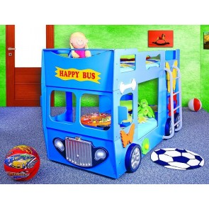 Letto Happy Bus - blu