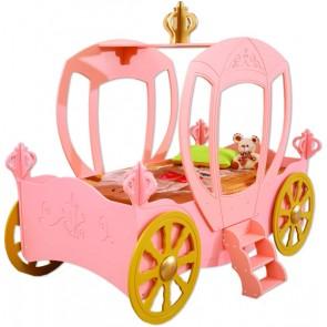 Letto a forma di carrozza  - e materasso a gratuito