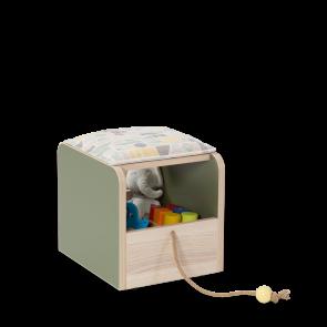 Sgabello con contenitore-Monte