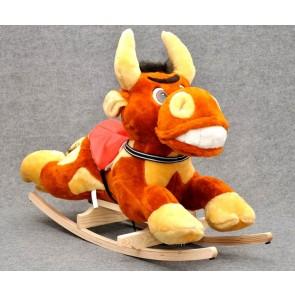 Cavallo a dondolo peluche di torro