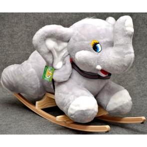 Cavallo a dondolo peluche d'elefant (grigio)