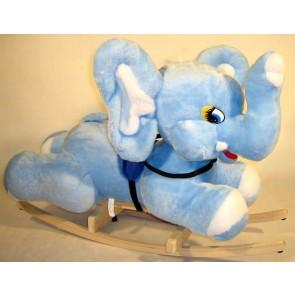 Cavallo a dondolo peluche d'elefant (azzurro)