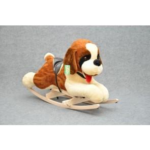 Cavallo a dondolo peluche di cane beagle