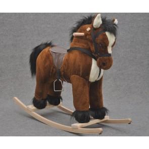 Cavallo a dondolo peluche marrone alto