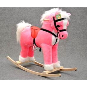 Cavallo a dondolo peluche (pink alto)