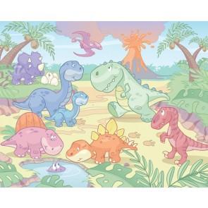 Walltastic stanza dei bambini immagine tapetto Baby Dino World