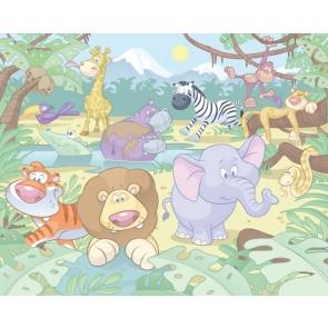 Walltastic stanza dei bambini immagine tapetto Baby Jungle Safari