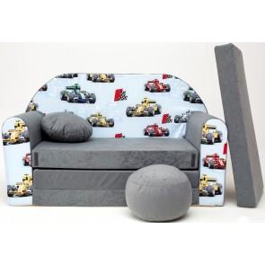 1- cuscino rotondo in colore del divano + pouf rotondo (auto)