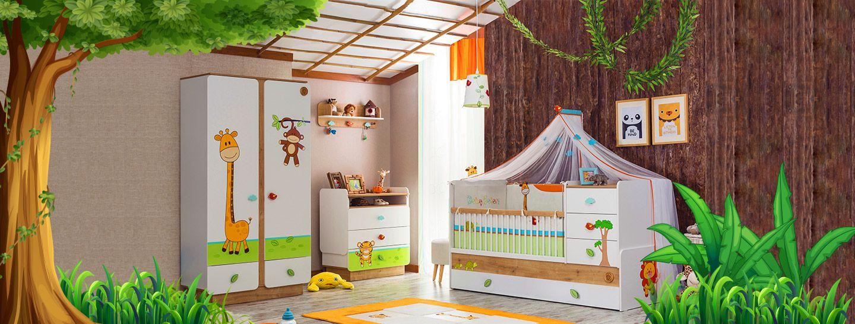 Camerette per neonato - Safari natura