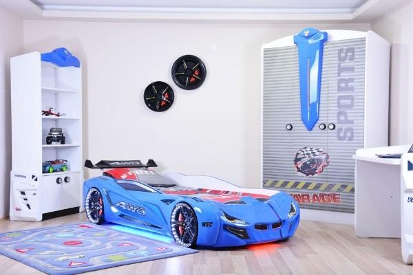 Camerette di macchina - Sport (bianco / blu)