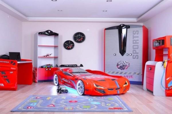 Camerette di macchina - Sport (rosso / nero)