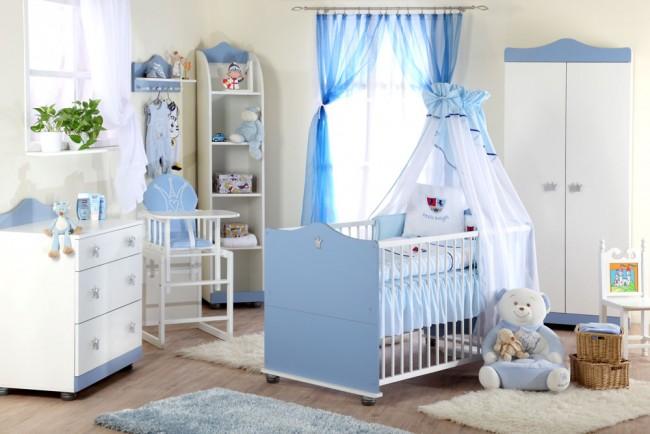 Cameretta per neonati Principe -Bianco-Blu