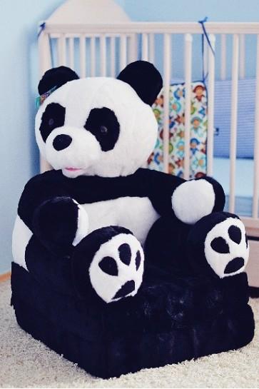 Poltrona di peluche pieghevole per bambini-Panda