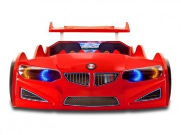 Lettino per auto NEW GT-1 ECO in rosso con attrezzatura COMPLETA  - frontale