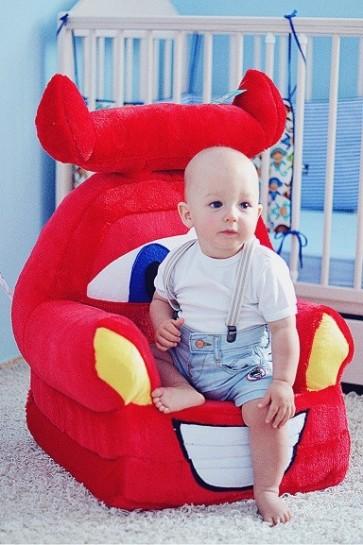 Poltrona di peluche pieghevole per bambini-Disney Cars2 McQueen