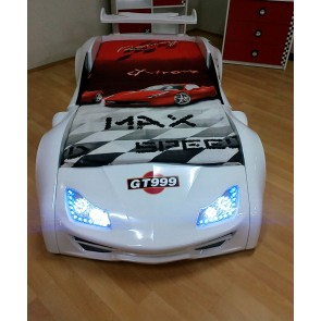 Grand Prix Enzo auto letto - bianco, full - porta aperta dettagli