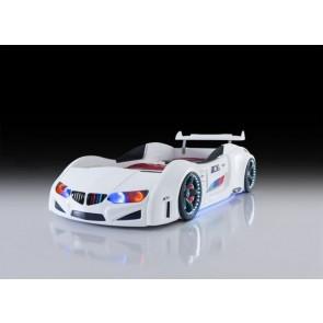 Autoletto a forma di BMW – bianco, full e porta aperta