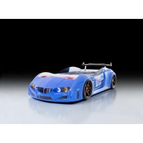 Autoletto a forma di BMW per bambini – blu, full e porta aperta