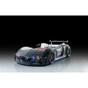 Autoletto a forma di BMW per bambini– nero, full e porta aperta