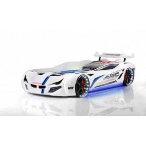 Letto a forma di macchina in bianco– Gran Coupe
