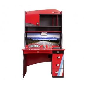 Scrivania per bambini con elemento supplemenatare (rosso) - Racer