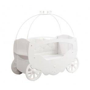 Letto per neonati a forma di carrozza (70x130 cm) - Fairy Baby - 20.00.1006.01