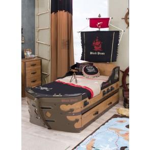 Letto M da pirata a forma di nave (90x195 cm)  - Pirate