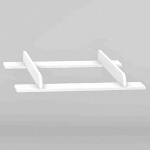 Fasciatoio aggiungibile con la cassettiera-Colette bianco