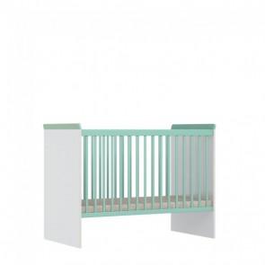 Lettino per neonati 60x120 cm-Emily-bianco-menta