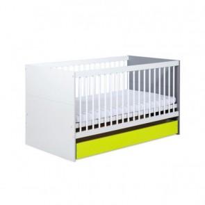 Letto trasformabile per neonati  con vano contenitore -Irene Lime
