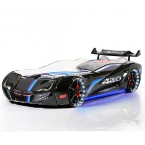 Letto a forma di macchina nero – Gran Coupe