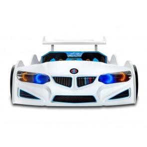 Lettino per auto NEW GT-1 ECO in bianco con attrezzatura COMPLETA - frontale