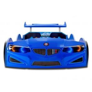Lettino per auto NEW GT-1 ECO in blu con attrezzatura COMPLETA - frontale