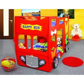 Letto Happy Bus - rosso