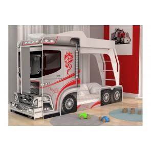 Letto a castello a forma di camion